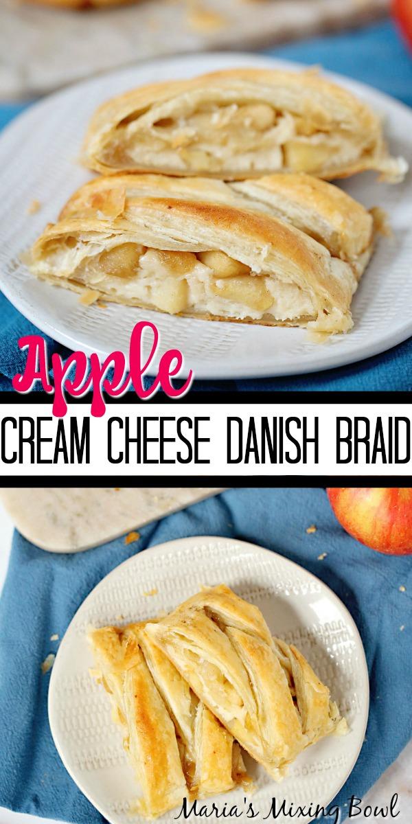 Apple Cream Cheese Danish Braid