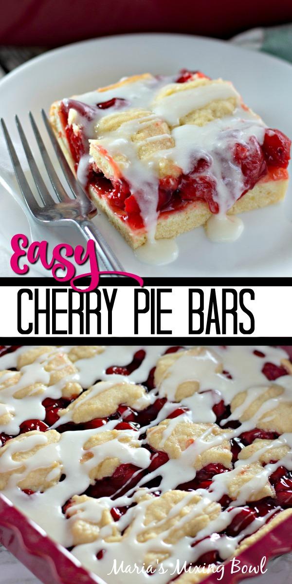 Easy Cherry Pie Bars
