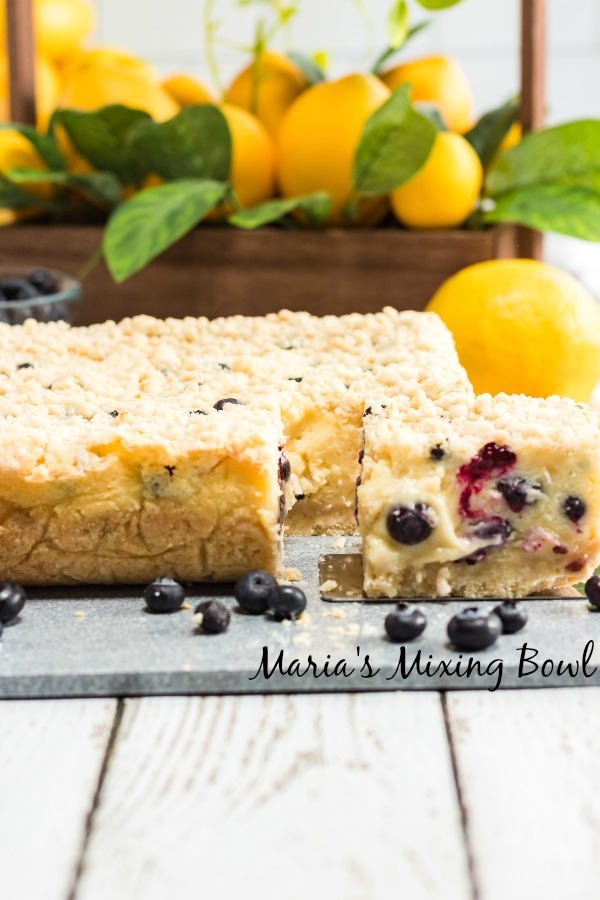 Lemon Blueberry Cream Bars