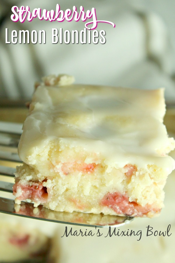 Strawberry Lemon Blondies