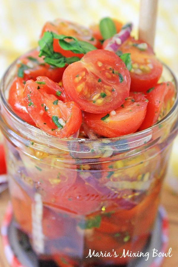 Summer Fresh Marinated Tomatoes Recipe