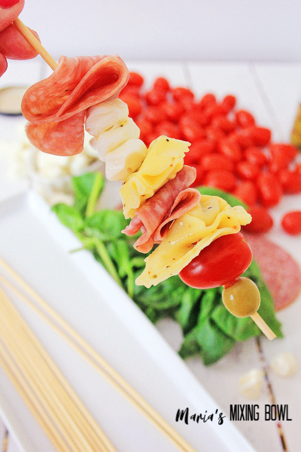 simple Antipasto Skewers are made in minutes!