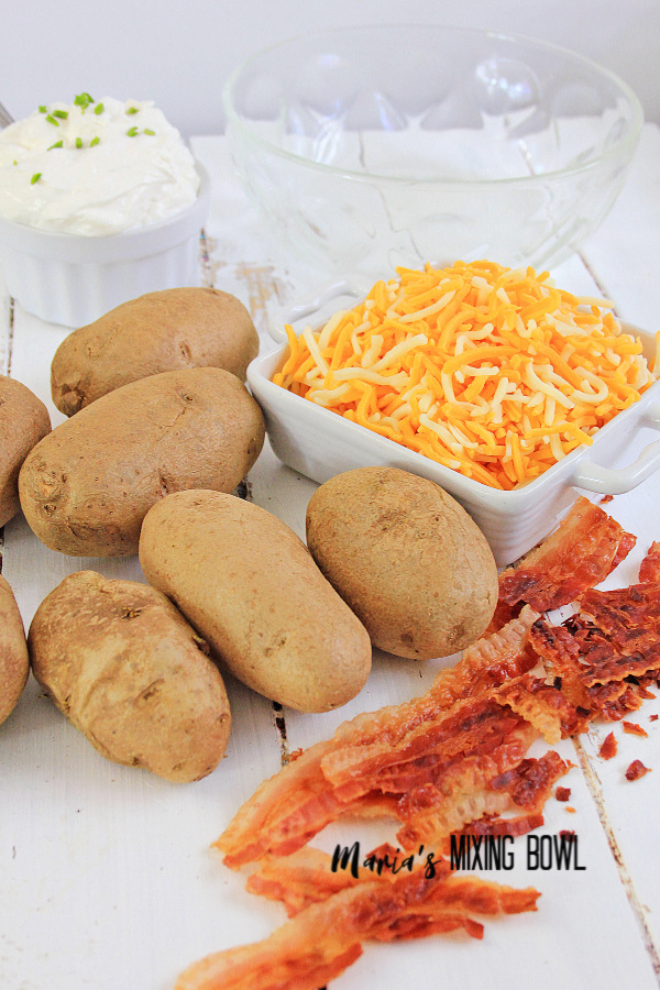Ingredients for Loaded Potato Salad