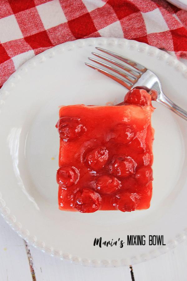 Creamy Cherry Cheesecake Icebox Dessert