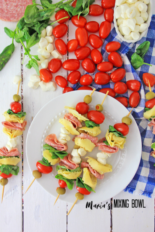 Antipasto Skewers are great game day appetizers!