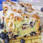 Blueberry Muffin Cake on vintage plate