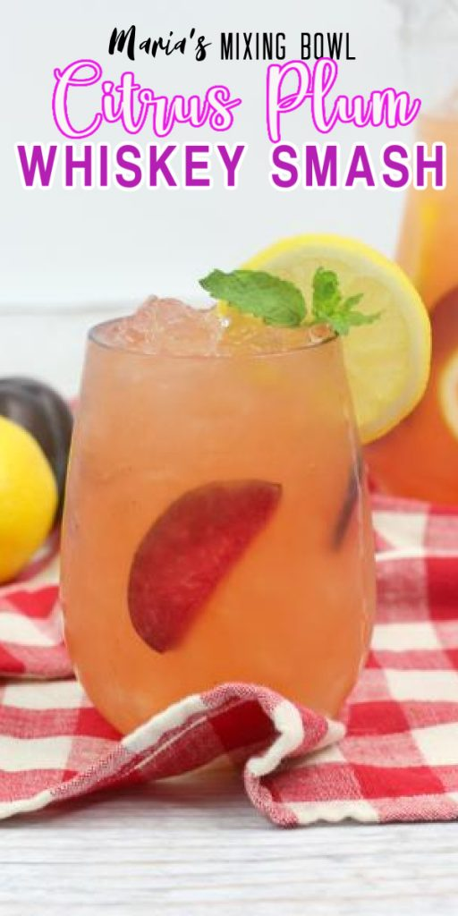 Citrus Plum Whiskey Smash