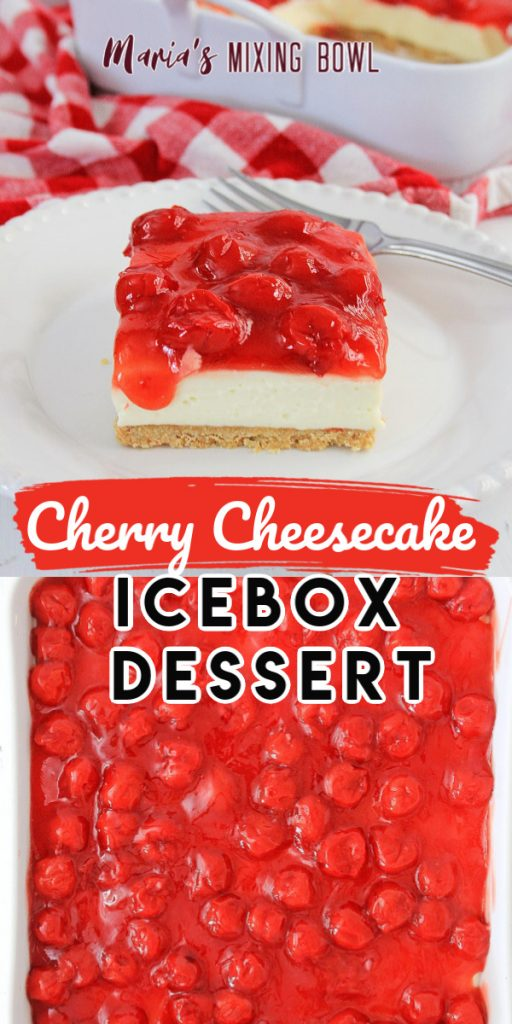 light and creamy Cherry Cheesecake Icebox Dessert