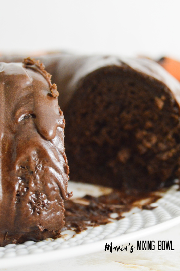 Fudgy chocolate Pumpkin Bundt Cake is delicious and so darn easy to make