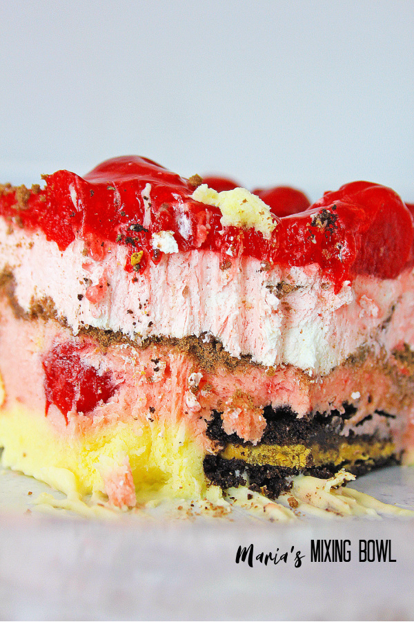 You will love this delicious Oreo cherry Icebox Cake
