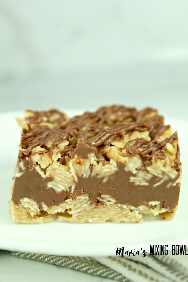 slice of chocolate oatmeal bar