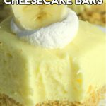 Easy no bake banana cream cheesecake bars