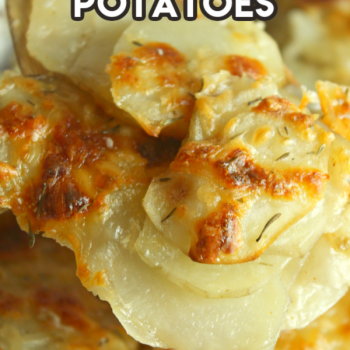 ccheesy and crispy scalloped potatoes