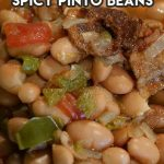 a bowl of spicy pinto beans