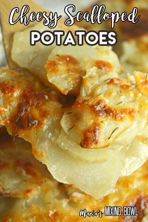 ccheesy and crispy scalloped potatoes