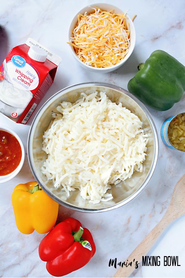 ingredients for hash brown skillet