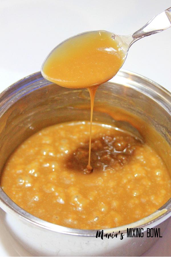 caramel sauce after cooking