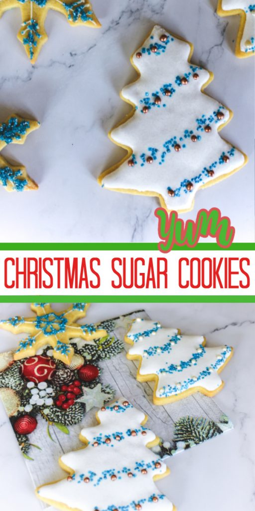 decorative cookies on a marble background