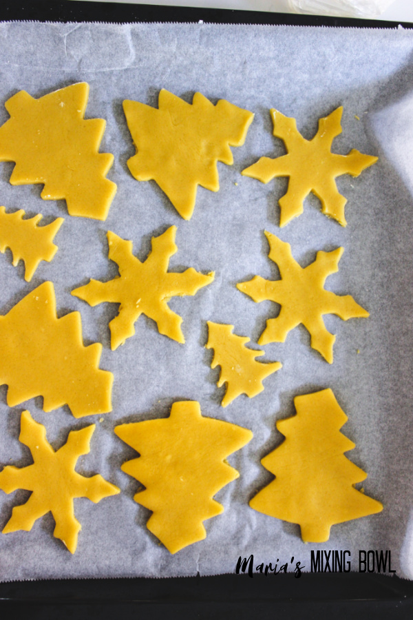 cookie cut outs waiting to be bakes