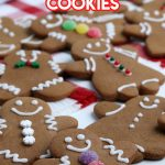cookies shaped like gingerbread people and decorated
