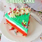 No-Bake Christmas Cheesecake