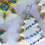 cookies on a marble surface decorates for the holiday