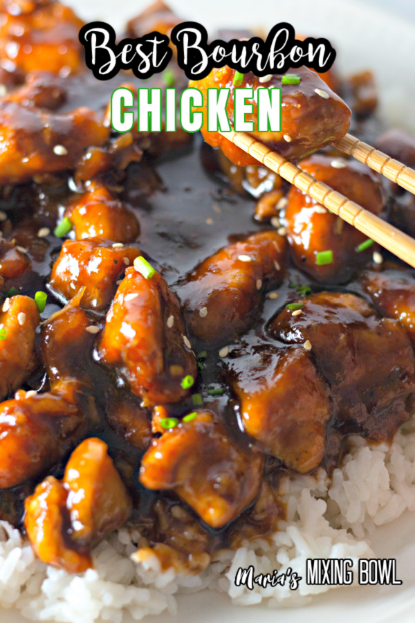 Chicken meal with rice and chop sticks