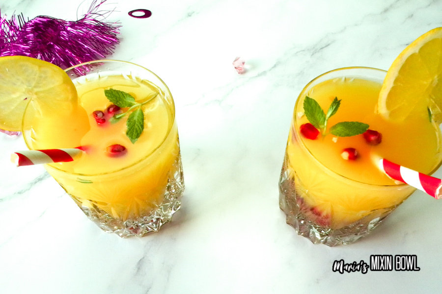 drinks for the holiday on white marble