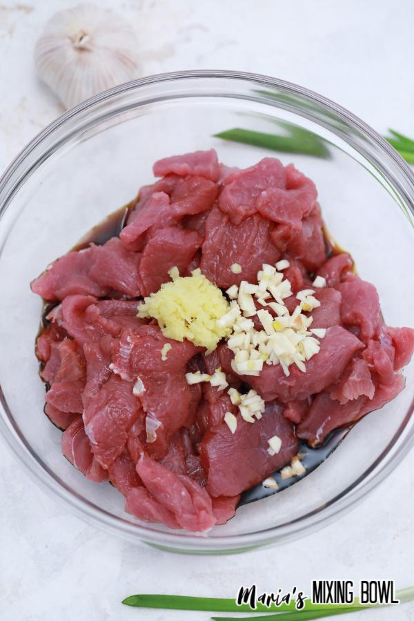 marinade form Mongolian beef