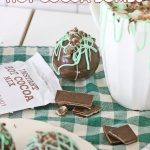 Hot Cocoa Bombs with a Minty Twist