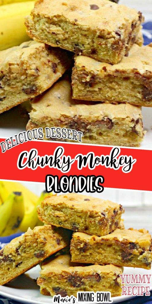 Chunky Monkey Blondie Bars