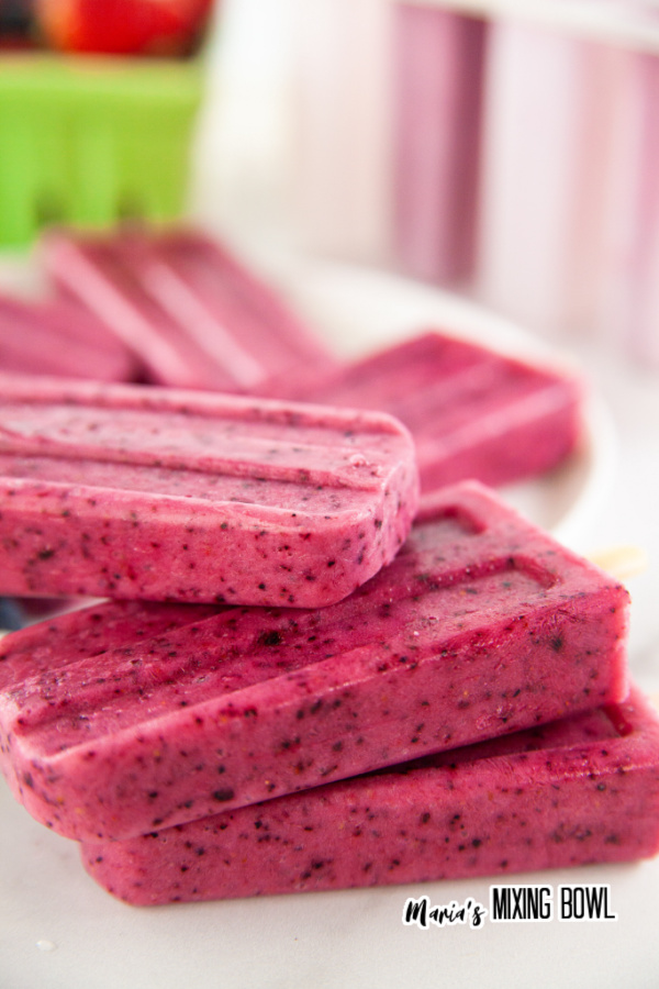 Closeup shot of healthy popsicles stacked atop one another