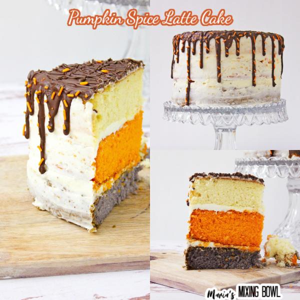 Slice of cake, cake on a stand