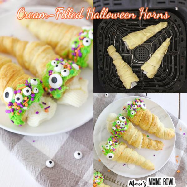Halloween cream horns